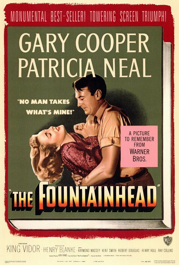 The Fountainhead 27x40 Movie Poster (1949) | Gary cooper, Fountainhead,  Patricia neal