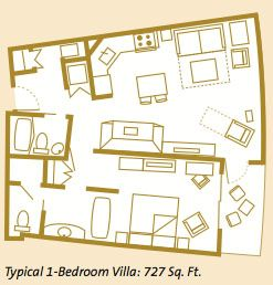 Bay Lake Tower 1 Bedroom Villa Floor Plan And Information Bay Lake Tower Bay Lake Tower Disney Bay Lake
