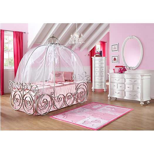 Disney Princess 6 Pc Carriage Bedroom | Disney Bedroom Sets | Rooms To Go  Kids