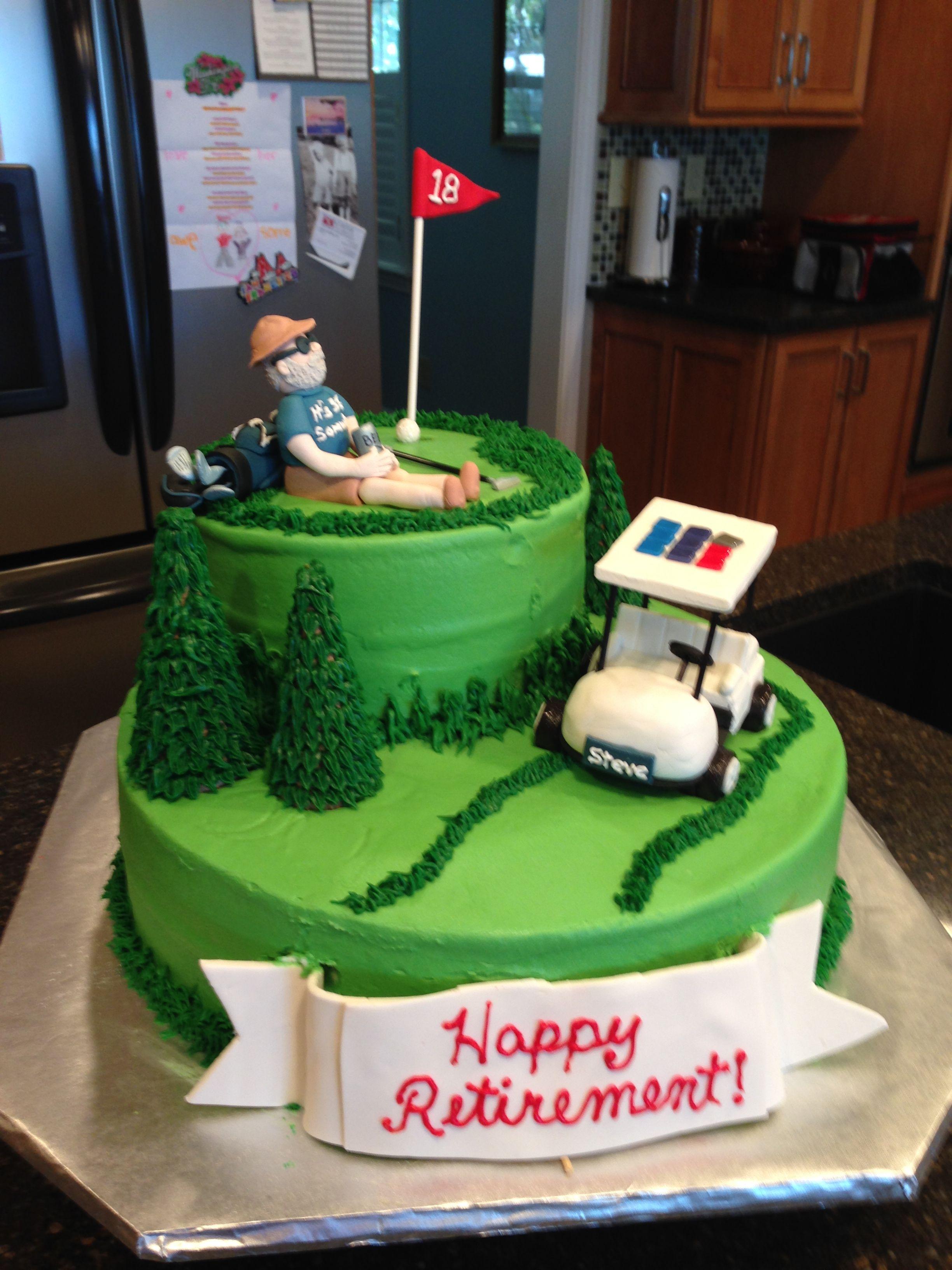 retirement cake- golfer