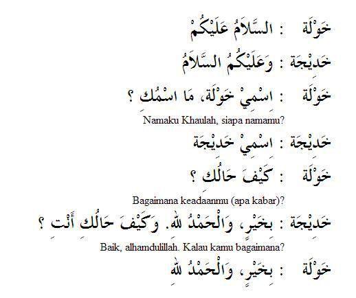 Pelajaran Bahasa Arab Percakapan Perkenalan Antara Perempuan