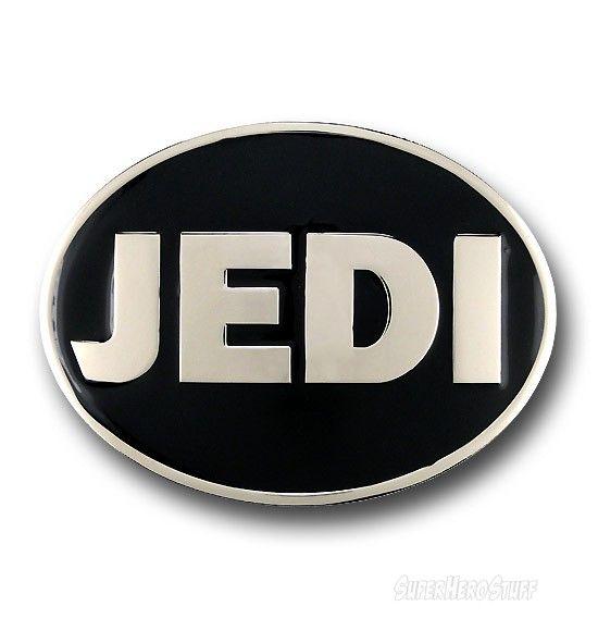 Images of Star Wars Jedi Oval Chrome Belt Buckle