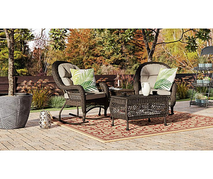 Wilson & Fisher Westwood Small Space Rocking Chairs Set at