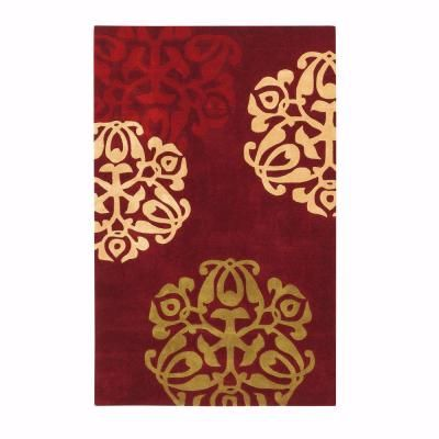 Home Decorators Collection Chadwick Burgundy And Gold 5 Ft X 8 Ft