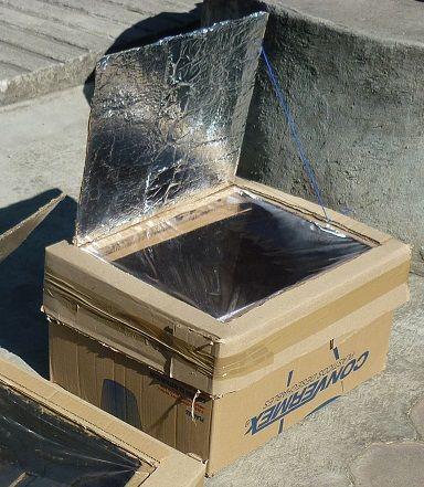 Eco Ideas Y Reciclaje Horno Solar Con Caja De Carton Con