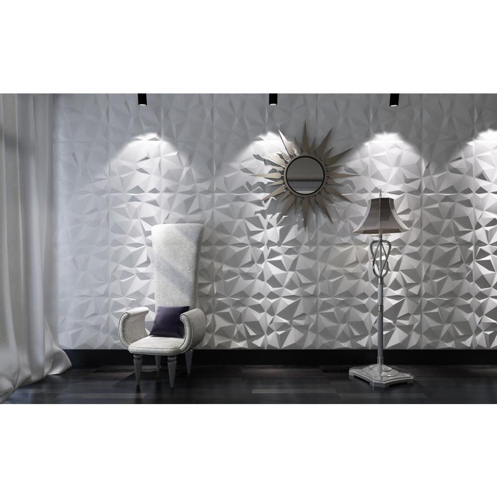 Art3d 19 7 In X 19 7 In White Decorative Pvc 3d Wall Panels In