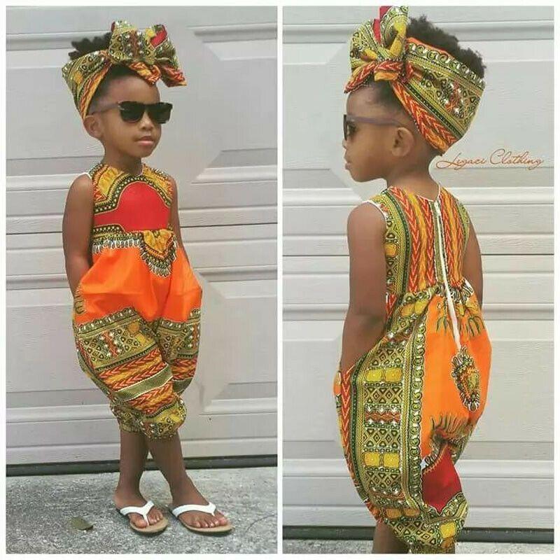 US 2019 Infant Baby Girls Kids African Jumpsuit Clothes Toddler Playsuit Outfit #afrikanischerstil