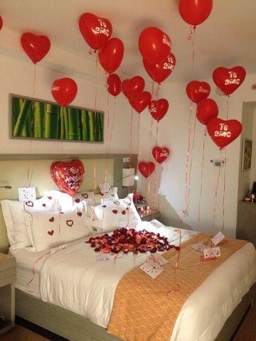 Decoraciones para el 14 de febrero globos fiestas for Decoracion san valentin pinterest