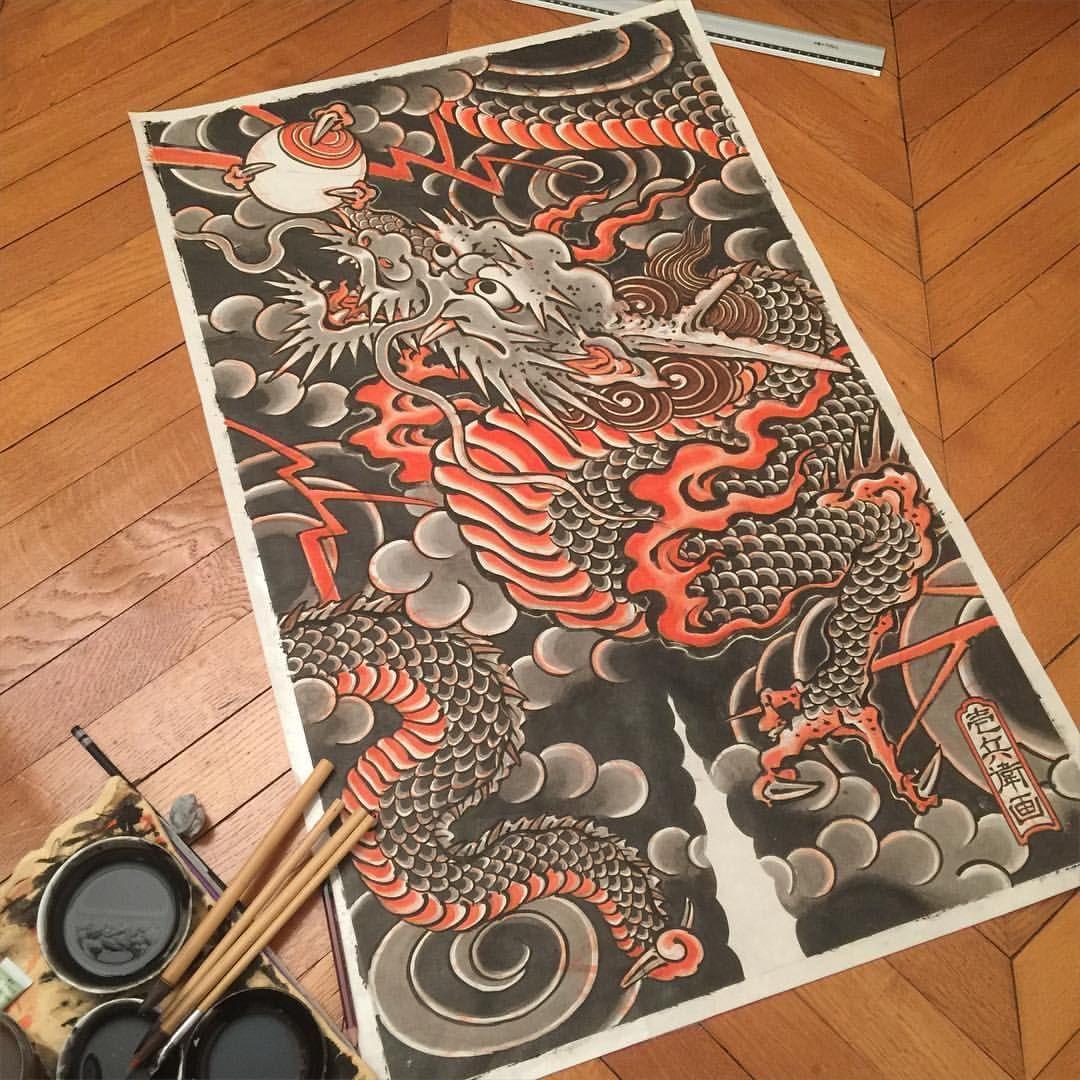 Hide Ichibay On Instagram Ichibay Japanese Drawings Japanese Tattoo Japanese Dragon