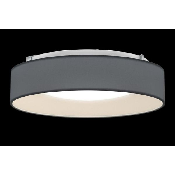 Unbranded Artika Drum 12 6 In W Grey Fabric Flush Mount Light At Lowe S Canada Find Our Selection Of Ceiling Lights The Lowest Price