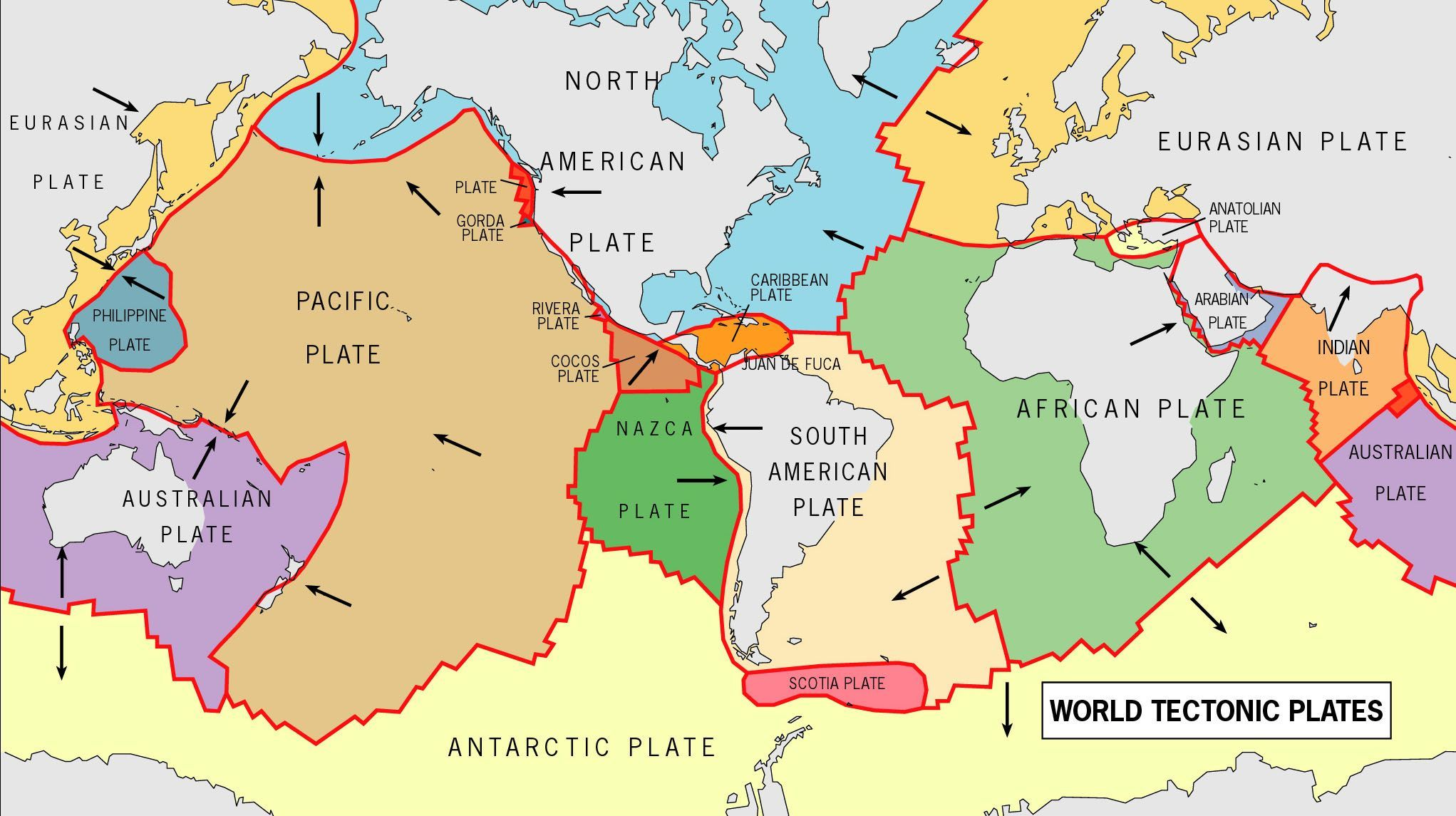 World Tectonic Plates And Their Movement