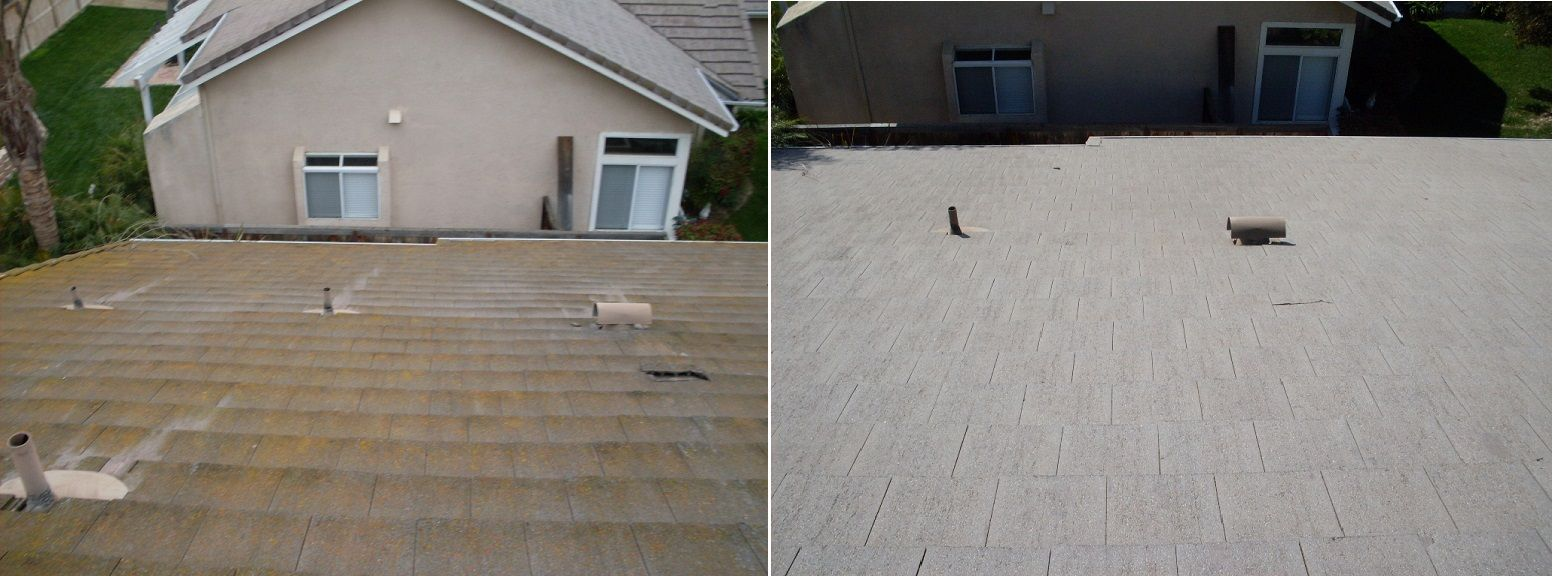 Amazing Difference After We Steam Cleaned Pressure Washed This Roof Pressure Washing Roof Cleaning Roof