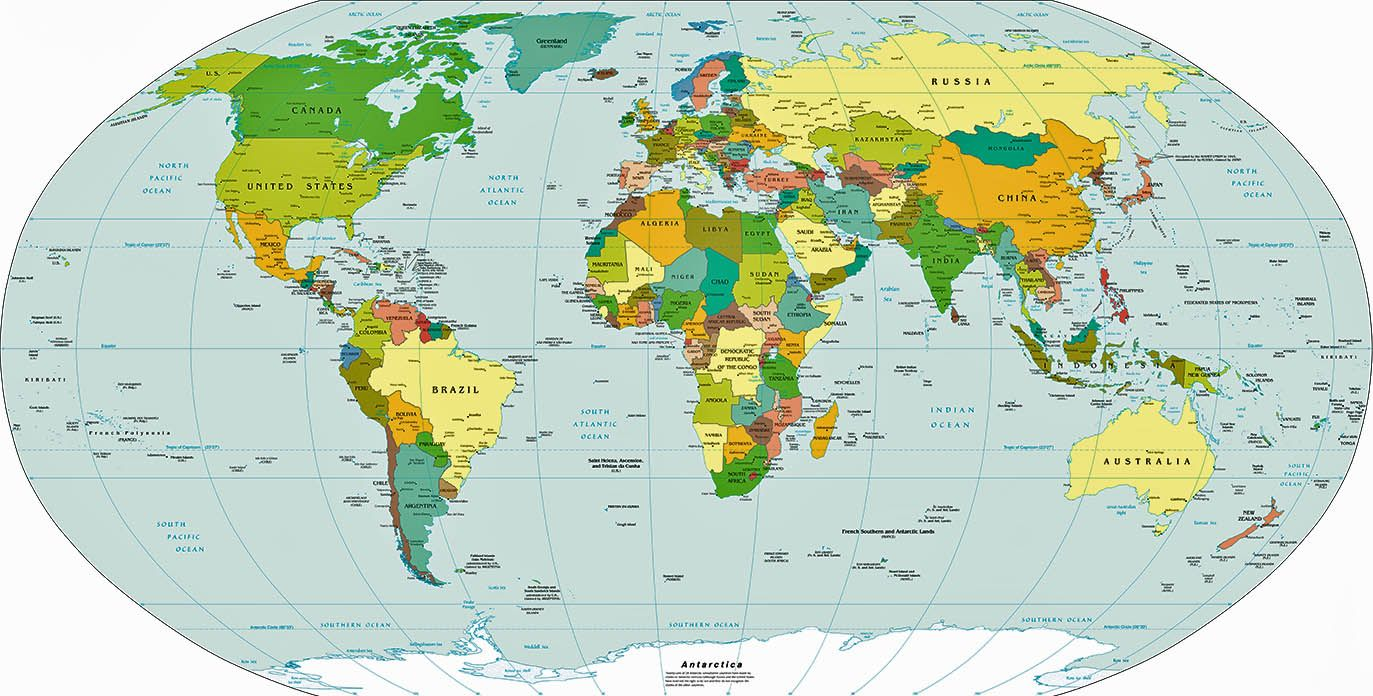 Political world map world map continents countries and political world map world map continents countries and gumiabroncs Choice Image