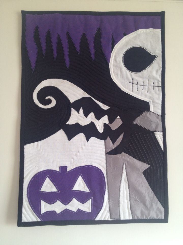 Nightmare Before Christmas Quilt | Quilts I've Made | Pinterest ... : nightmare before christmas quilt - Adamdwight.com