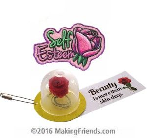 MakingFriends Beauty SWAP Kit with Free Patch! Every Disney fan will recognize these SWAPs from Beauty and the Beast! Kit makes 30 SWAPs with a Free Patch