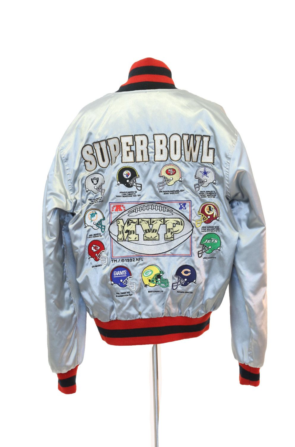 vtg 1992 Super Bowl MVP NFL team Legends satin mens starter coat jacket  bomber L by CaliVintageusa on Etsy 90f2fc826