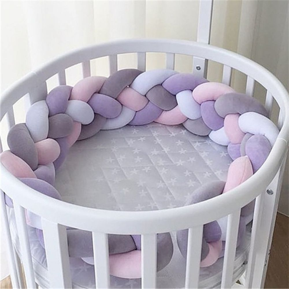 Nordic Style Plush Stuffer Long Knotted Braid Pillow Baby Crib Bumper Cushion Set Baby Room Decoration Gif Baby Crib Bumpers Handmade Crib Newborn Baby Bedding