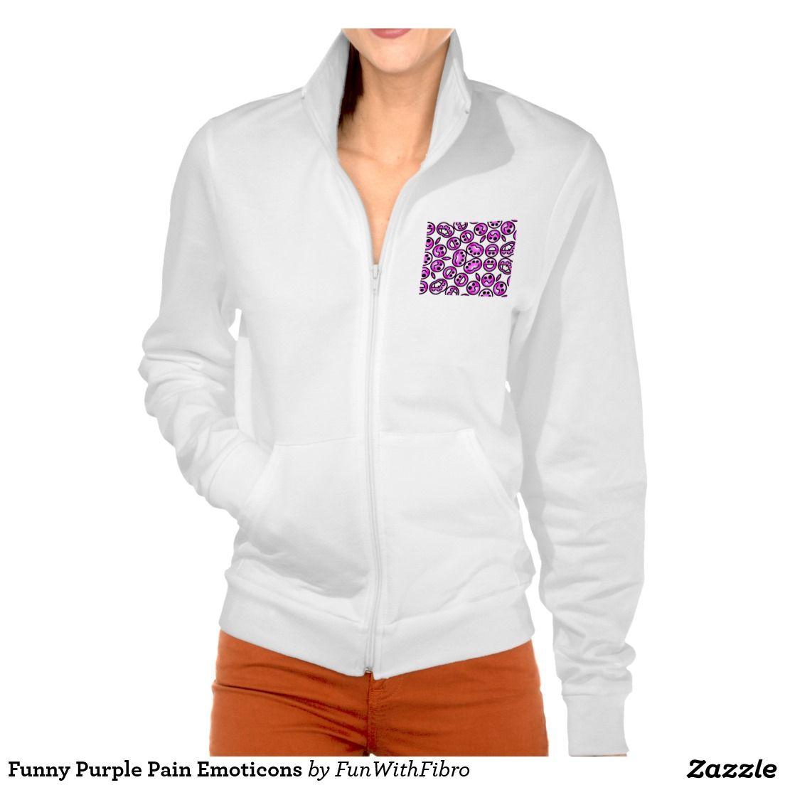 Funny Purple Pain Emoticons Printed Jacket