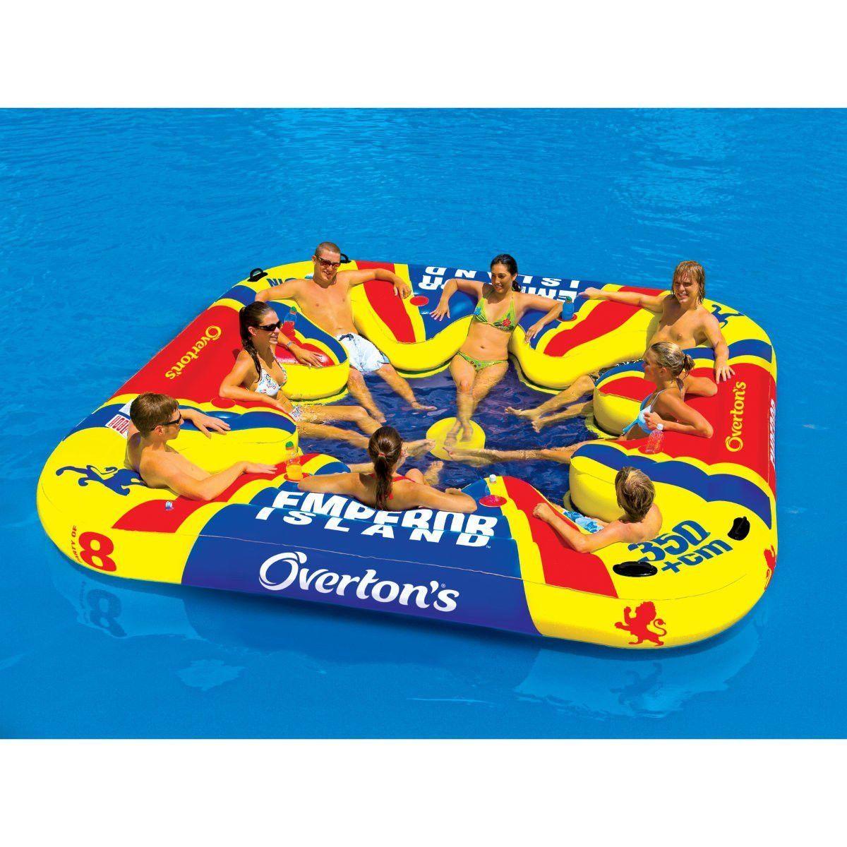 Amazon Com Emperor Island Party Lounge Raft River Lake Dock Inflatable Sports Outdoors Casa De Lago Flotadores Piscina Decoracion De Unas