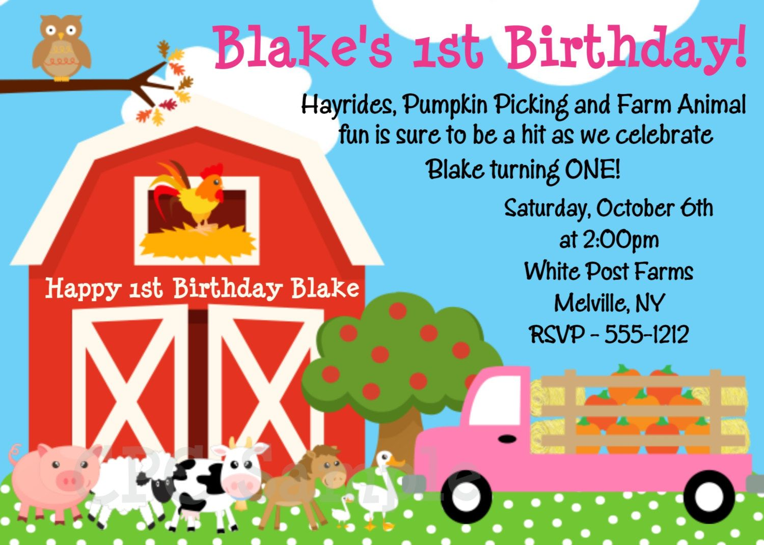 graphic about White Post Farms Printable Coupons identify farm-animal-birthday-invites-wording Contemporary Invites