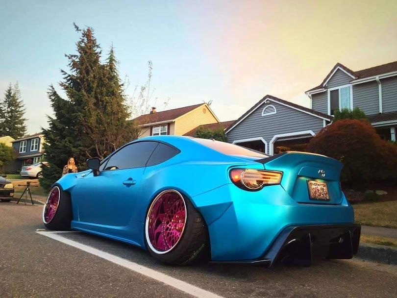 Scion FRS full wrap with 3M 1080 Ocean Shimmer color For