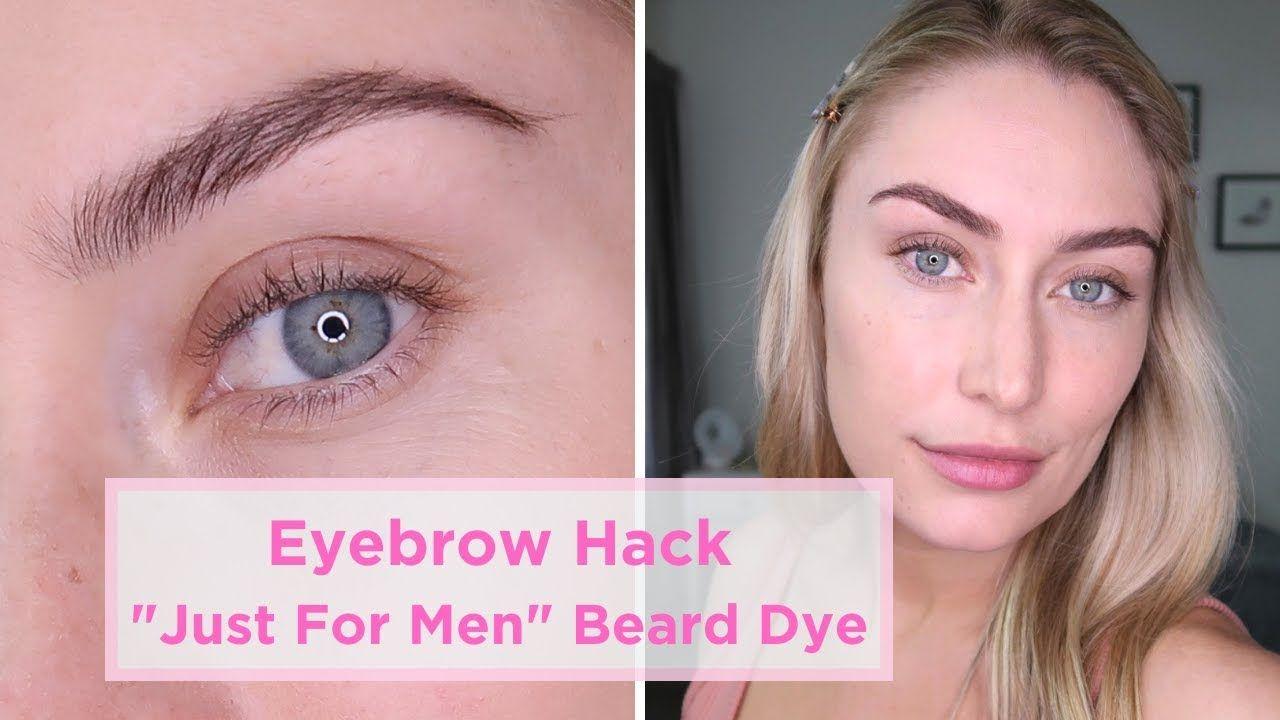 Eyebrow Hack Using Just For Men Dye In 2020 Eyebrow Hacks Just For Men Just For Men Beard