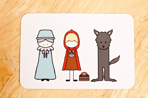 Little Red Riding Hood Magnet by PixelPearlStudio on Etsy