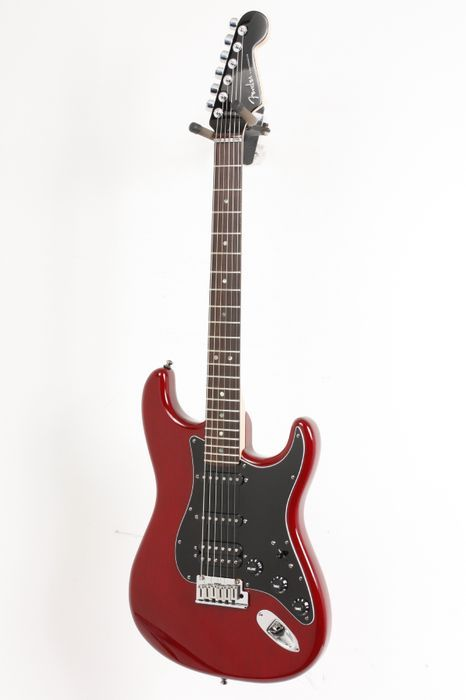 Click Image Above To Buy: Used Fender American Select Stratocaster Hss Electric Guitar Crimson Red Transparent 886830452451