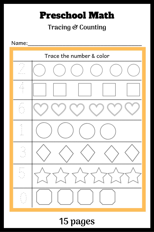 Preschool Math Tracing Counting Preschool Math Fun Math Worksheets Preschool Worksheets [ 1500 x 1000 Pixel ]
