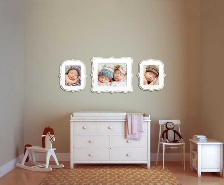 Wall Display Over Crib Organic Bloom Frames Baby Room Wall