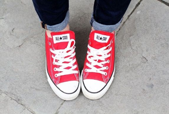 Converse, Red converse shoes, Red low