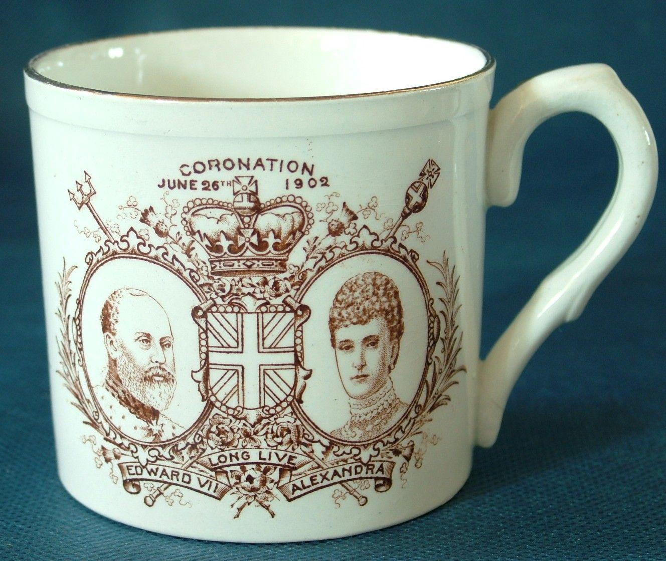 Foley China Coronation Of Edward Vii And Queen Alexandra 1902 Commemorative Ceramic Mug Legacy Antiques And Collectibles Ltd Commemoration Ceramic Mug Coronation