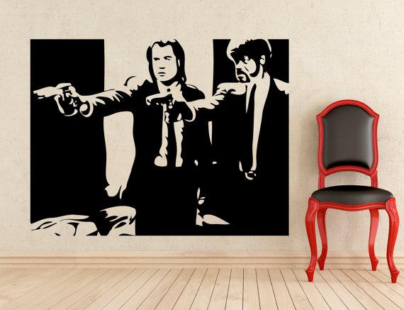 Pulp Fiction Wall Vinyl Decal Home Wall Sticker Interior Mural Art ...