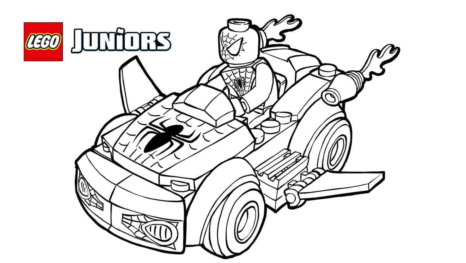 lego spiderman coloring pages - Lego Spiderman Coloring Pages