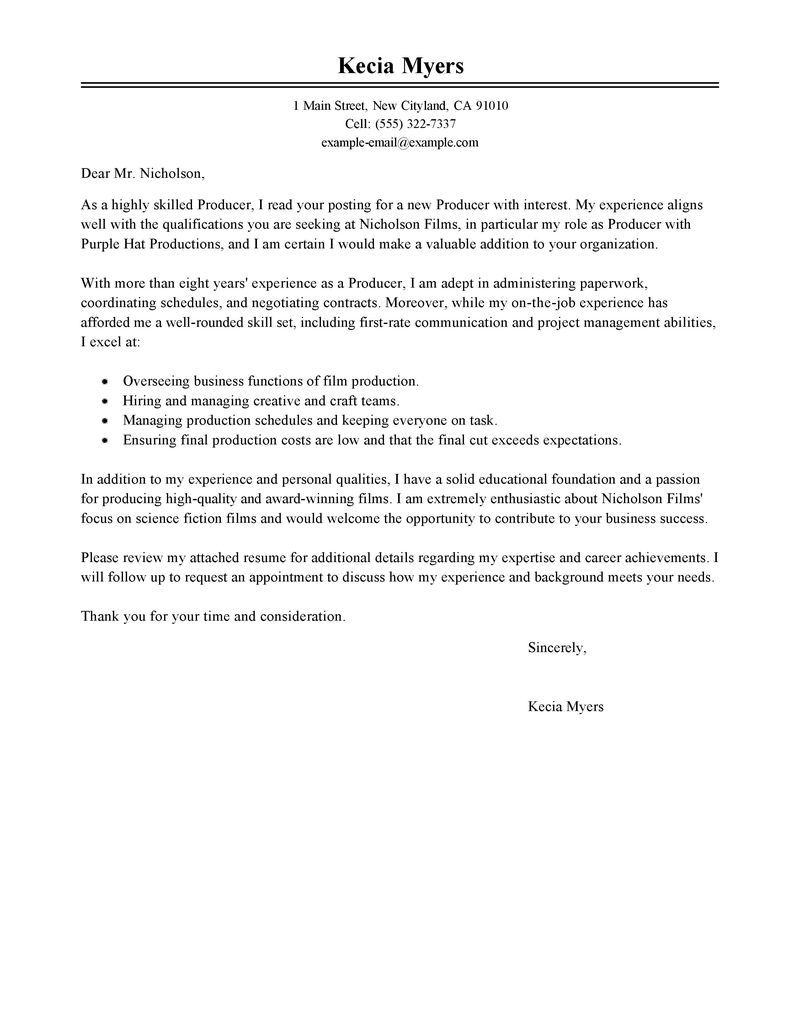 Sports Management Cover Letter | The Best Template