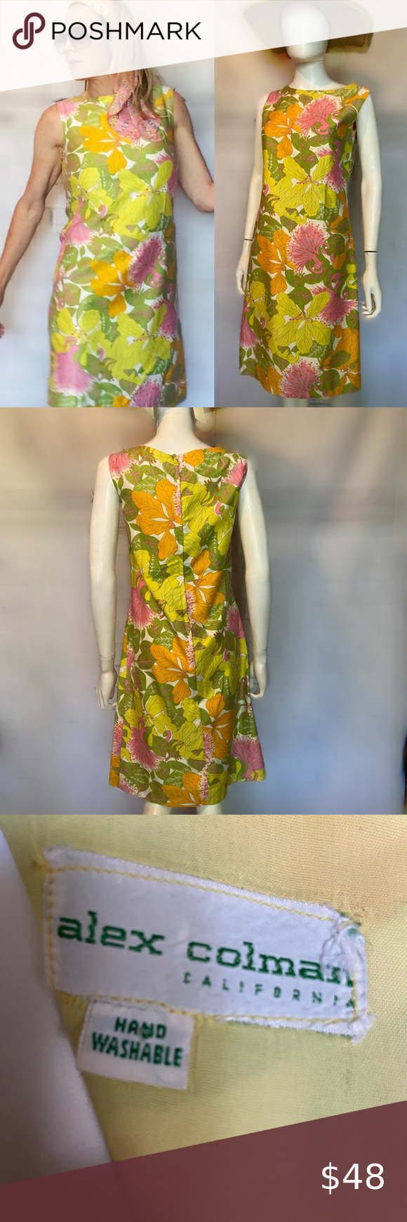 Vintage Floral Cotton Mod Shift Dress Vintage Shift Dress Shift Dress Dresses [ 1740 x 580 Pixel ]