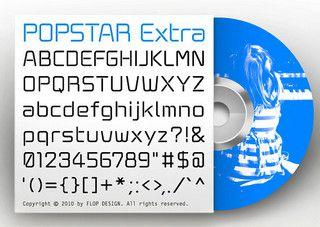 PopStar Extra FONT/ ORIGINAL TYPEFACE | by FLOP DESIGN