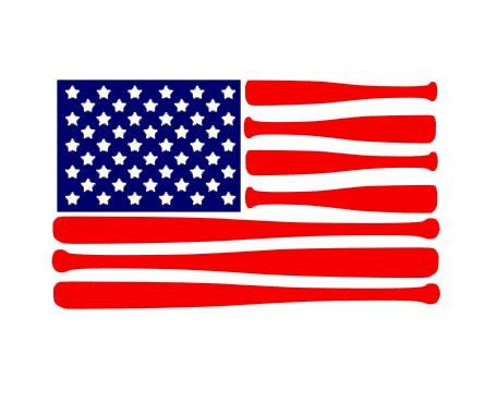 American Flag Bats instant download cut file for cutting