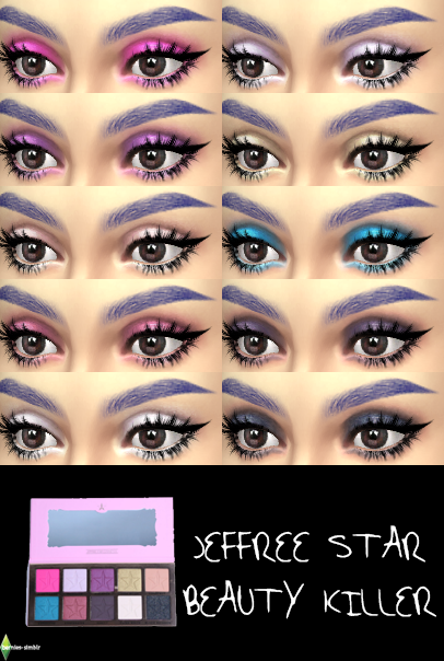 Sims 4 Ccs The Best Jeffree Star Beauty Killer Eye Shadow By