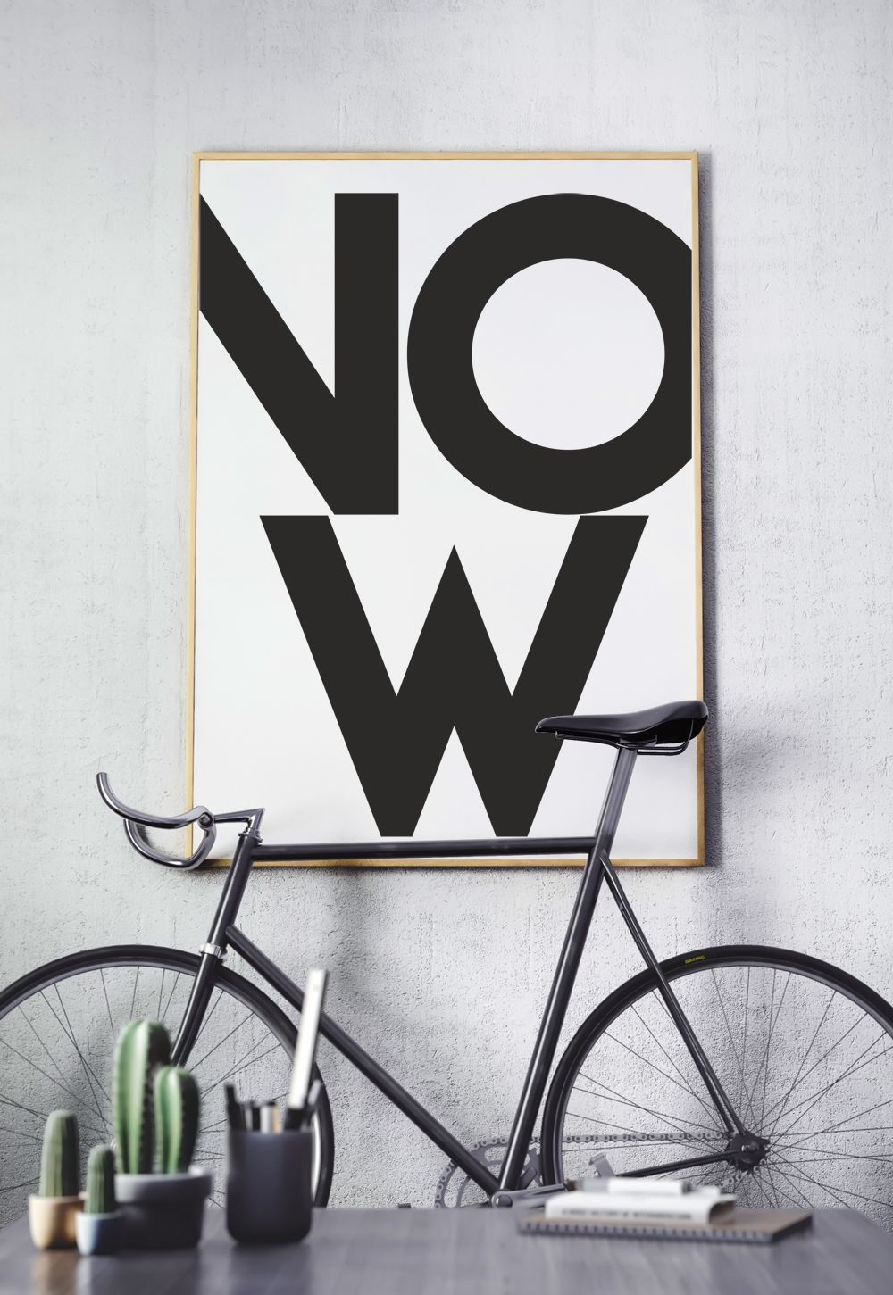 Now Minimalist Bold Typography Large Poster Print For Modern Appartment Moving New Home Gift For Single Man Modern Scandinavian Wall Art Large Poster Prints Poster Prints Bold Typography