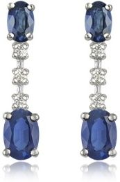 eJero : Sapphire and Diamond 18K Gold Drop Earrings