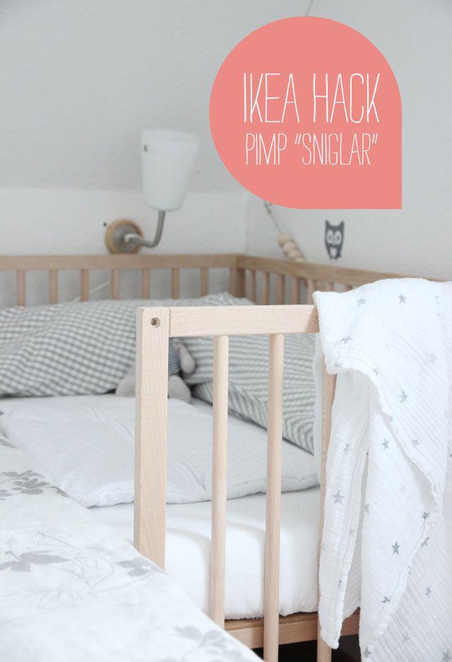 ikea babybay pimp sniglar babybed good stuff pinterest ikea. Black Bedroom Furniture Sets. Home Design Ideas