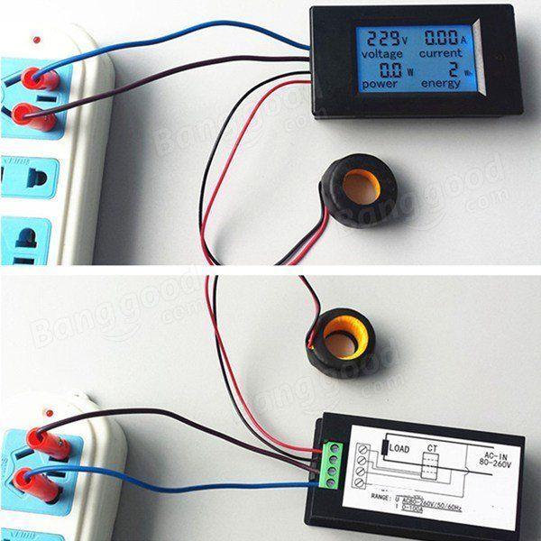 100A Power Monitor Module AC Meter Panel Sale - Banggood.com
