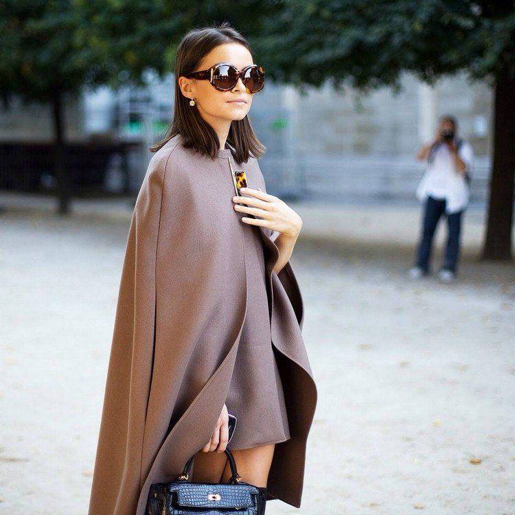 comment porter un manteau model poncho femme automne hiver 2017 2018 mode  urbaine poncho