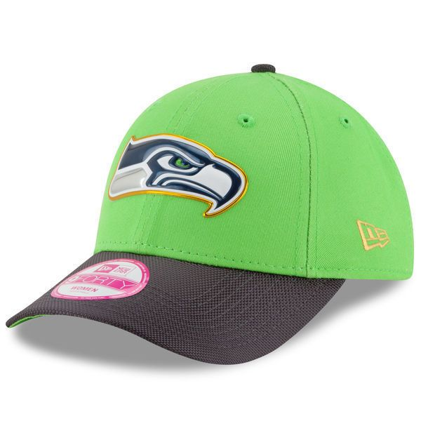 New Era Women s Seahawks Green Graphite Gold Collection 9Forty Adjustable  Hat  NewEra  SeattleSeahawks 8eae5d3b8