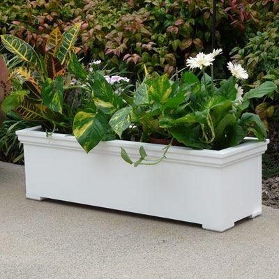 Www Flowerwindowboxes Com Rectangle Planter Box Rectangle Planters Self Watering Planter