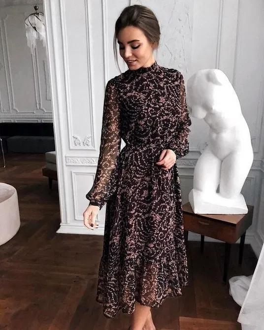 Photo of 109 vestidos de diseñador hasta el té con manga larga de lentejuelas de encaje