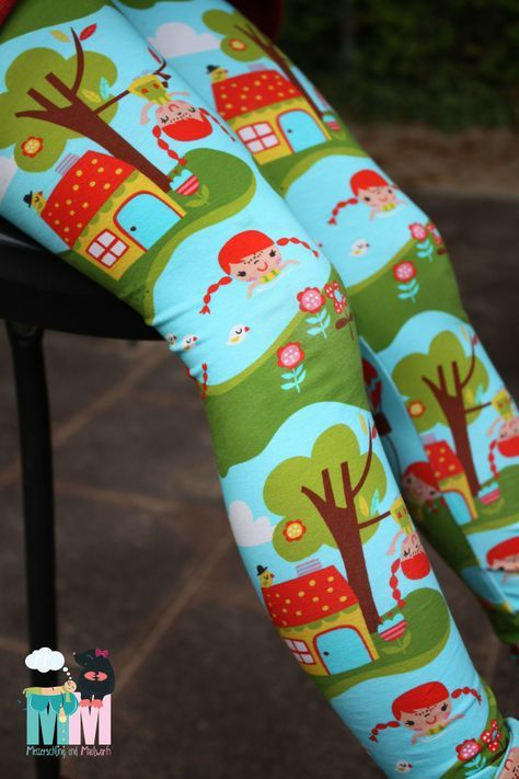 Näh Anleitung Leggings nähen Gr. 74-168 // Free Schnittmuster - HANDMADE Kultur #outfitweihnachtsmarkt