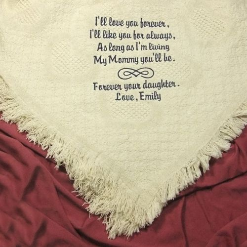 Personalized Cotton Throw Wedding Blanket Embroidered Luxurious 100 Afghan Wraps You In