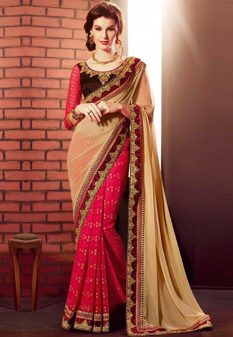 Red Color Georgette Saree - Rs. 2475.00